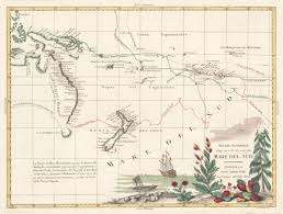 Endeavor Air Route Map by James Cook First Voyage