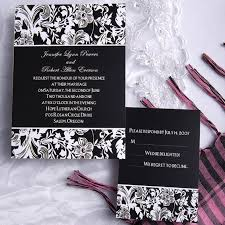 wedding invitations black and white printable modern black and white floral garden wedding invitations