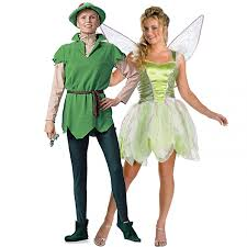 Tinkerbell Halloween Costumes Peter Pan Tinkerbell Couple Halloween Costumes Halloween