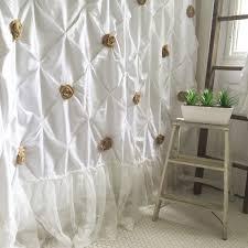 Burlap Looking Curtains Burlapower Curtains Ruffle Curtain White Cotton With Handmade Good