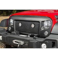 round led driving lights rugged ridge 12034 35 spartan grille mesh insert kit w round led