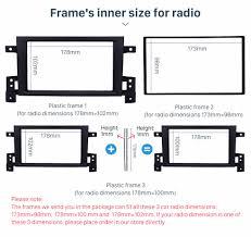 car radio fascia frame cover panel for suzuki grand vitara 05 17