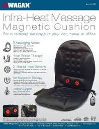 Massage Pads For Chairs Wagan Infra Heat 12v Massage Cushion Walmart Com