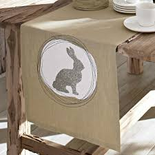 Rustic Easter Table Decorations by Thematic Table Runner For Easter Worries For A Festive Table