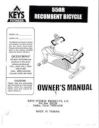keys fitness bicycle 550r user guide manualsonline com
