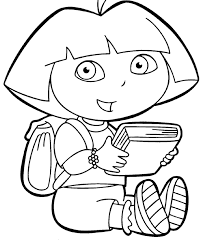 dora printable coloring pages coloring