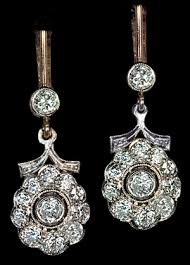 diamond dangle earrings vintage 2 50 ctw diamond drop earrings antique jewelry vintage