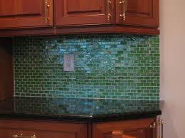 Green Tile Kitchen Backsplash Excellent Decoration Green Glass Tile Backsplash Some Design Glass
