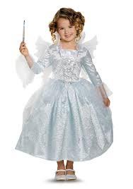 girls deluxe cinderella fairy godmother costume