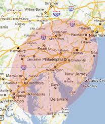 map of maryland delaware and new jersey service area backup generator repair emergency power