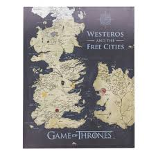 Map Of Westeros World by Of Thrones Westeros And The Free Cities Map Canvas