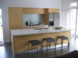 kitchen modern white kitchen island with iron cast backless