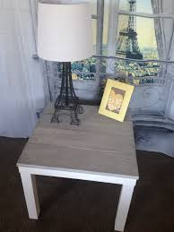 Ikea Lack Side Table by Diy Faux Barnwood Side Table Ikea Hack Wood Side Tables And