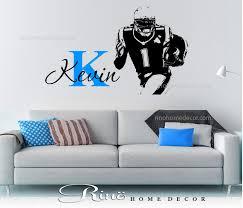 football decal custom first name vinyl sticker wall art 1