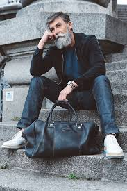 60 year old man hairstyle 60 year old man becomes a fashion model after growing a beard 10