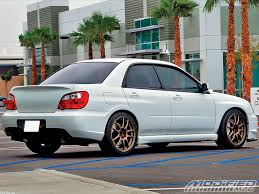 subaru blobeye stance chris thys u0027 2005 subaru wrx sti modified magazine