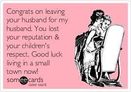 congrats on your divorce card congrats on leaving your husband for my husband you lost your