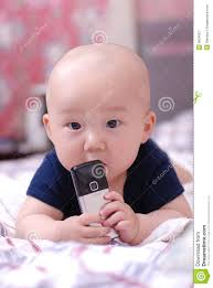 Baby On Phone Meme - cute baby with cellphone stock image image of sweet