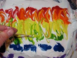 the chocolate muffin tree shaving cream marbled rainbows