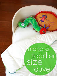 toddler bed blanket how to make a toddler size duvet from a single bed duvet my