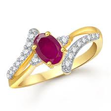 ring for buy meenaz ruby 24k gold ring for women in american