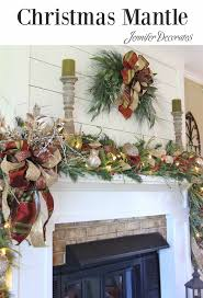 how to decorate a mantle for christmas from jennifer decorates com