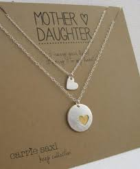 Wedding Gift Jewelry Mother Daughter Necklace Set Mother U0027s Necklace Daughter U0027s