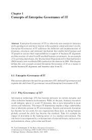 Scholarly Essay Example Governance Of Information Tecnology