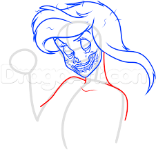 zombie cinderella tutorial how to draw zombie ariel step by step zombies monsters free