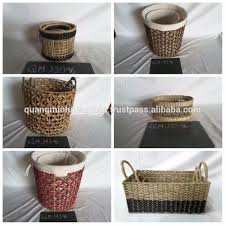 set of 2 seagrass belly basket long time usage wicker rice basket