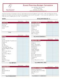 Spreadsheet Budget Planner by 10 Best Images Of Programmed Event Party Budget Spreadsheet