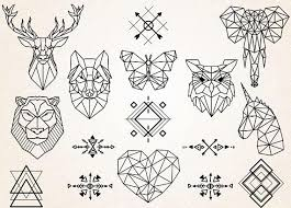 tattoo animal line geometric animal drawing at getdrawings com free for personal use