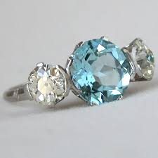 antique aquamarine engagement rings fay cullen archives rings vintage aquamarine engagement ring
