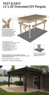 Diy Patio Furniture Plans Best 25 Diy Gazebo Ideas On Pinterest Outdoor Pergola Pergola