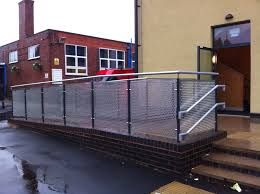 Galvanised Handrail Birmingham Schools Balustrade Morris Fabrications Ltd
