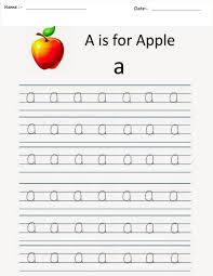 kindergarten worksheets alphabet tracing worksheets a
