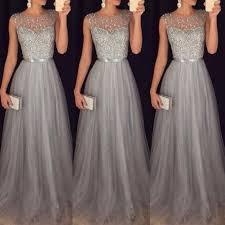 evening wedding dresses chiffon sleeveless sequined evening wedding dress aqilabuy