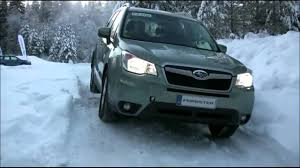 green subaru forester subaru forester x mode snow test youtube