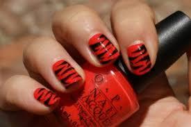 red black nail polish designs how to nail designs