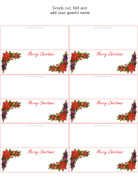 printable name place cards free printable christmas place cards party favors at kid