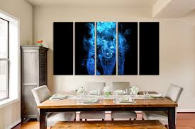 home interior tiger picture 5 large pictures blue canvas wall tiger multi panel