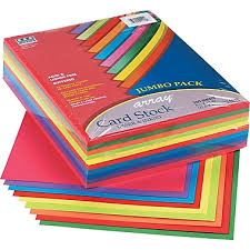 pacon array card stock 8 1 2 l x 11 w assorted lively 250