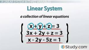 how to solve a linear system in three variables with no or