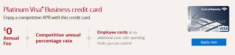 No Credit Business Credit Card Bank Of America Platinum Visa Business Credit Card 200 Statement