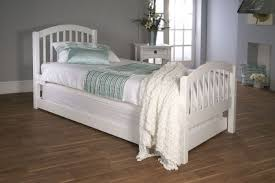 White Wood Single Bed Frame Limelight Despina 3ft Single White Wooden Bed With Guest Bed Frame