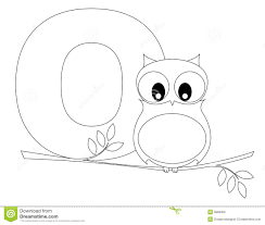 animal alphabet o coloring page stock photo image 9999300