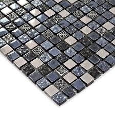 black glass tiles for kitchen backsplashes black glass tile silver glass mosaic tiles backsplash