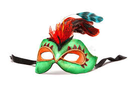 green mardi gras mask green mardi gras mask with feathers on white background with bla