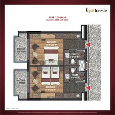 Studio Plan by Floor Plan Paramount Golf Foreste Villas And Studio Apartments
