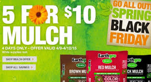 black friday dealls home depot the home depot spring black friday sale five bags of mulch for
